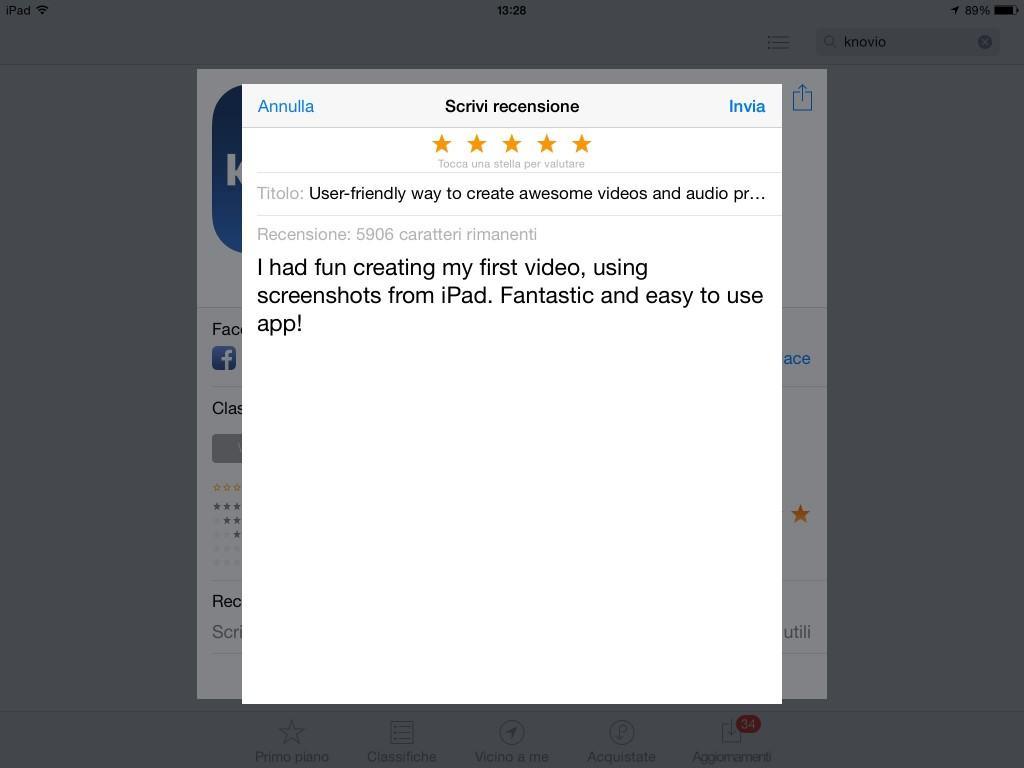 my review of knovio apple app