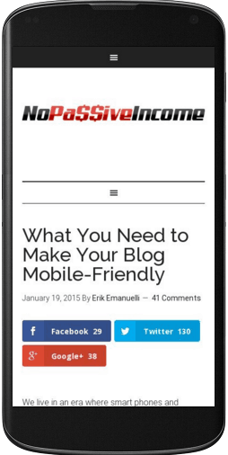 nopassiveincome blog post visited from mobile