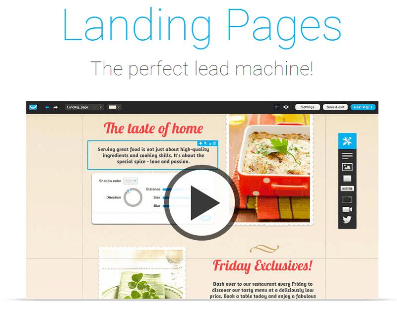landing page GetResponse screenshot