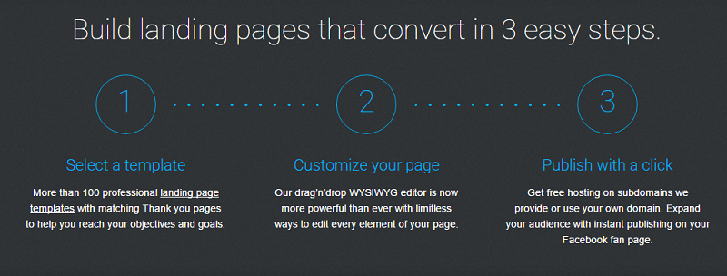 landing page homepage screenshot