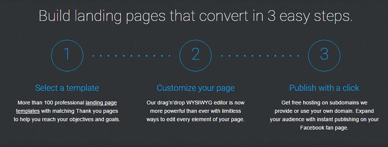 landing page homepage screenshot