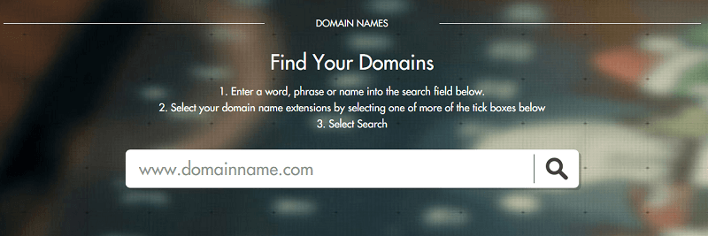 search domain names via Temok