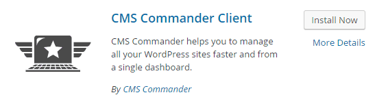 CMS Commander plugin screenshot