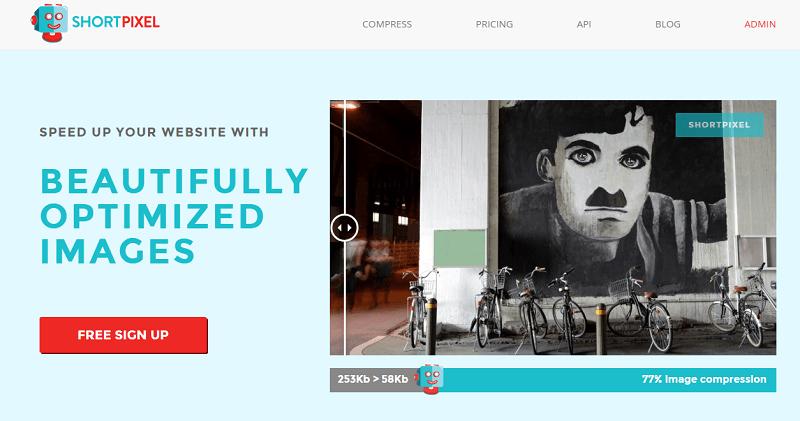 ShortPixel homepage screenshot