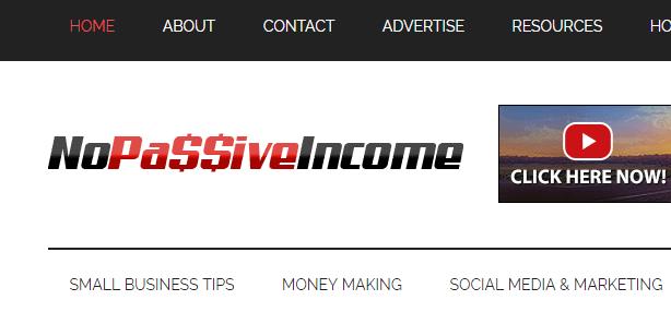 nopassiveincome_com site menu