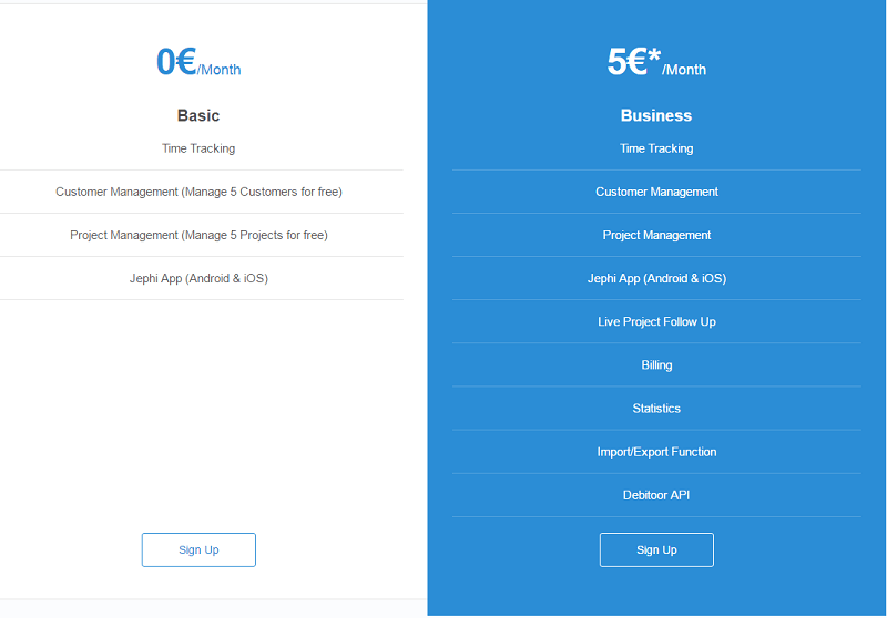 Jephi pricing
