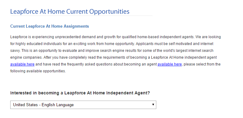 job positions at leapforce