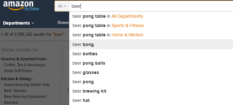 searching-for-beer-keyword-inside-amazon