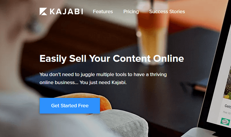 kajabi-homepage-screenshot